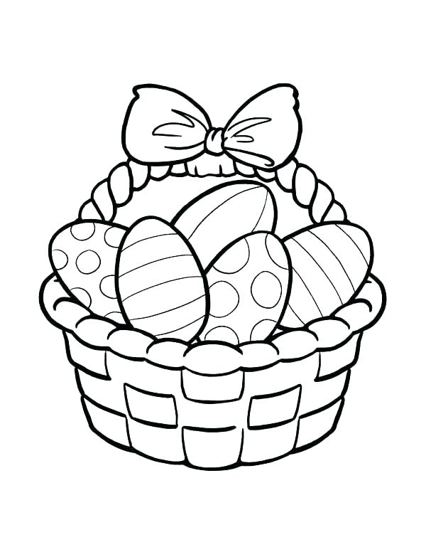 Bunny basket clipart black and white svg library Collection of Easter basket clipart   Free download best Easter ... svg library