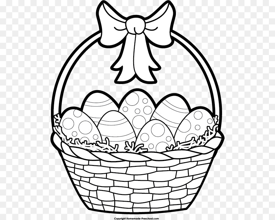 Bunny basket clipart black and white image black and white stock Download easter black and white clipart Easter Bunny Lent - Easter ... image black and white stock