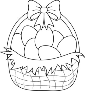 Bunny basket clipart black and white svg stock 54+ Easter Clipart Black And White | ClipartLook svg stock