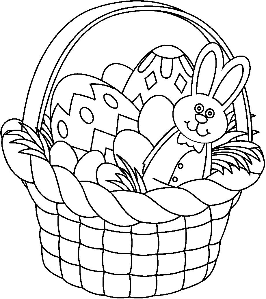 Bunny basket clipart black and white jpg library stock Easter Clip Art Free Black And White – HD Easter Images jpg library stock