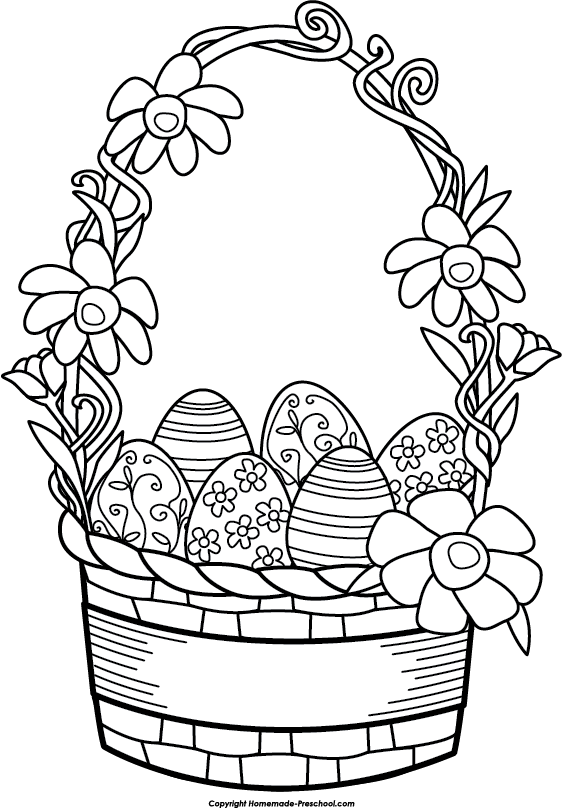 Bunny basket clipart black and white clip freeuse library Free Easter Basket Clipart, Download Free Clip Art, Free Clip Art on ... clip freeuse library