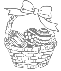 Bunny basket clipart black and white svg transparent stock Free Black and White Easter Clipart - Public Domain Holiday/Easter ... svg transparent stock
