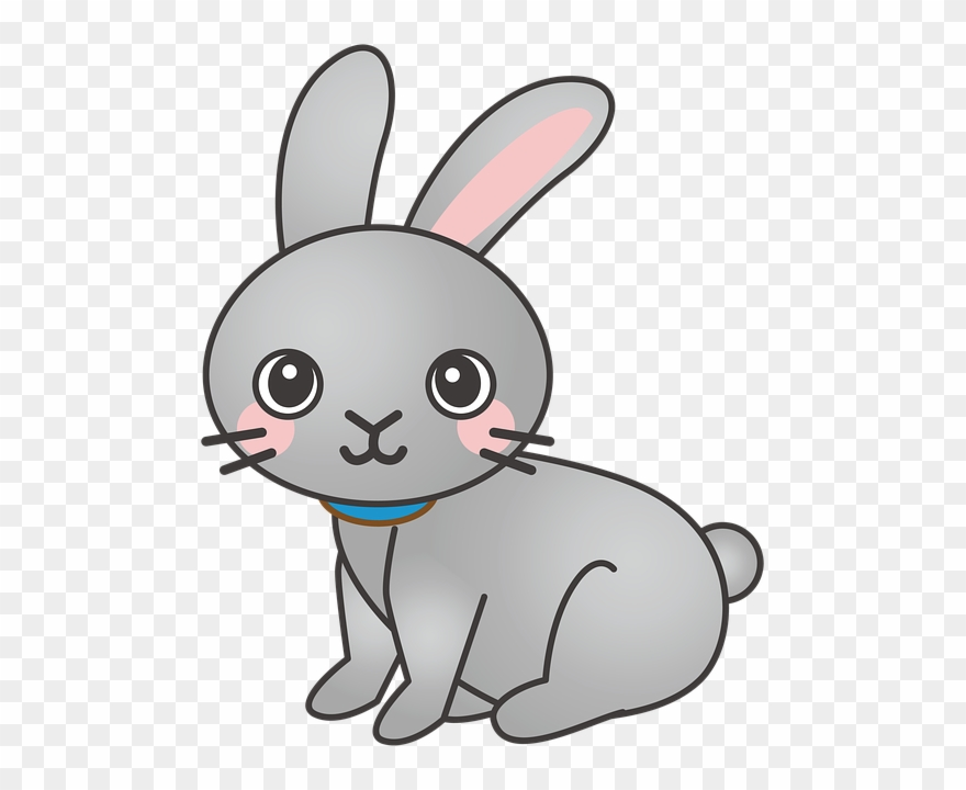 Bunny clipart png png black and white Rabbit, Bunny, Animal, Cute - Rabbit Cartoon Png Clipart (#1368056 ... png black and white