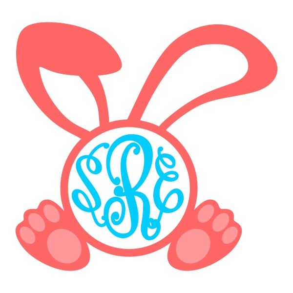 Bunny ears monogram clipart vector freeuse Download bunny ears for monogram clipart Clip art vector freeuse