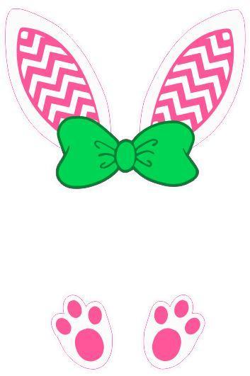 Bunny ears monogram clipart jpg freeuse library Bunny Ears Monogram- Chevron jpg freeuse library