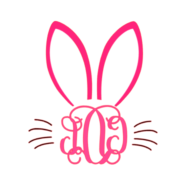 Bunny ears monogram clipart freeuse library Monogram Bunny Ears Tee sold by The Freckled Texan freeuse library