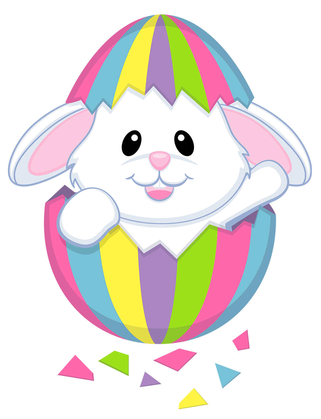 Bunny with eggs download. Free easter clipart images