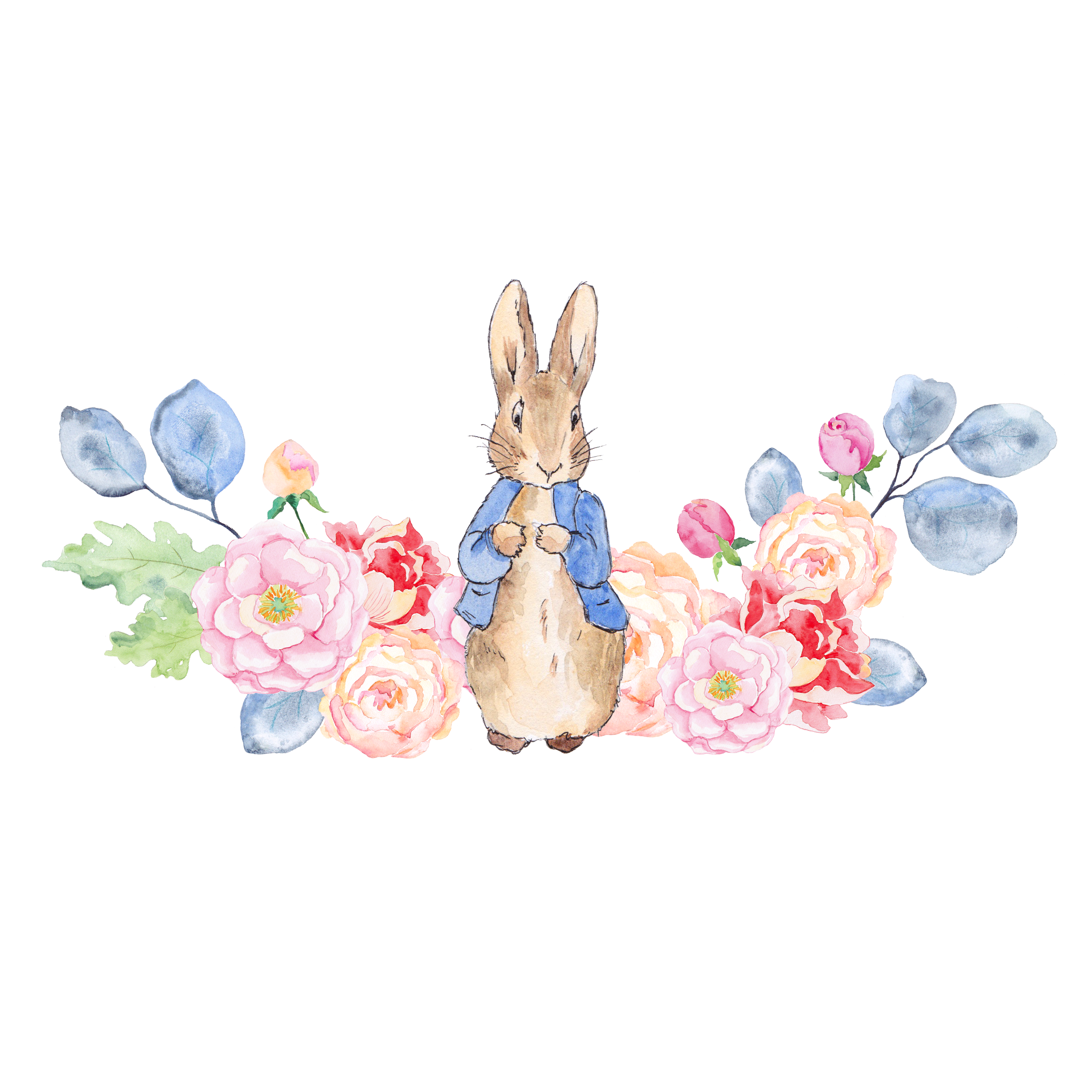 Bunny flower clipart clipart library library The Tale of Peter Rabbit Clip art - Rabbit and flowers 3500*3500 ... clipart library library