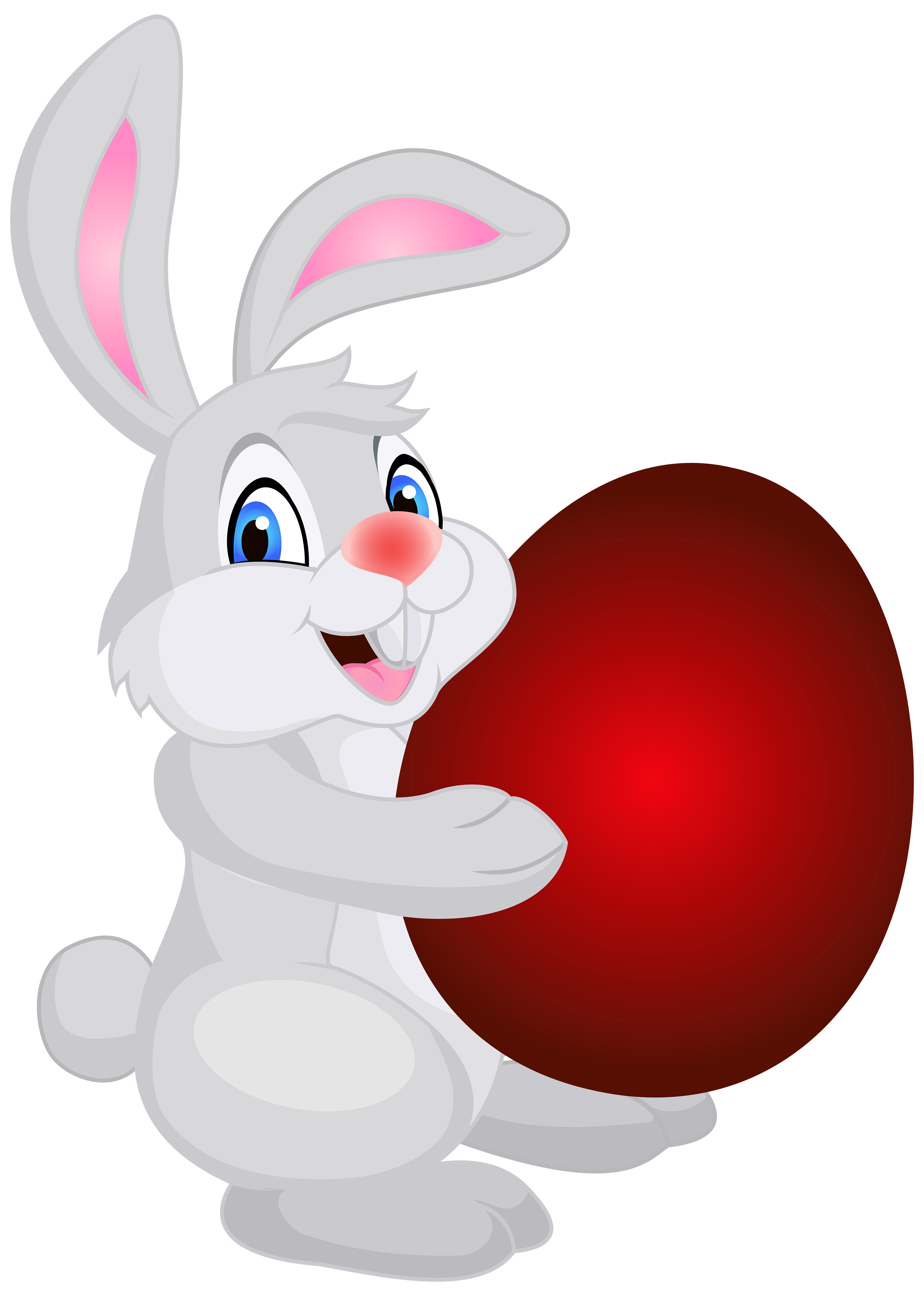 Bunny flower clipart banner transparent download Bunny with Easter Egg PNG Clip Art Image | Gallery Yopriceville ... banner transparent download