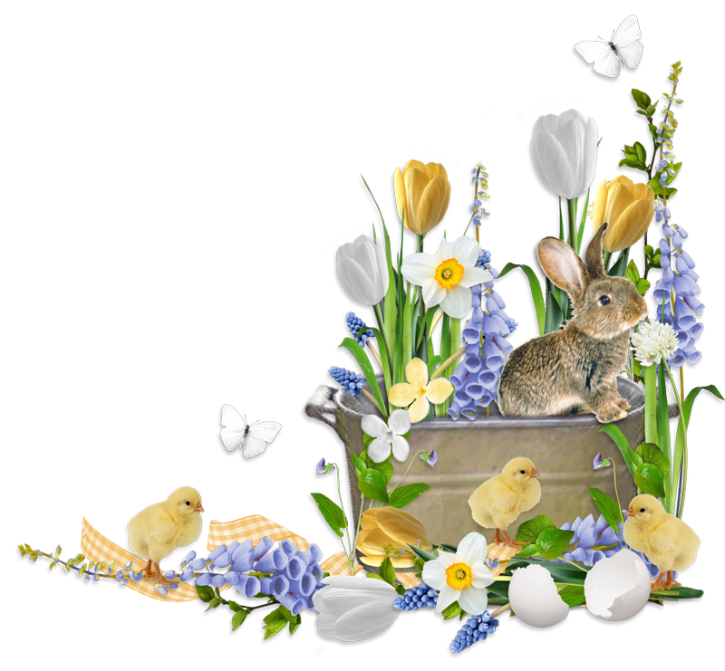 Bunny flower clipart graphic library cheyOkota digital scraps | EASTER | Pinterest | Scrap, Easter and ... graphic library