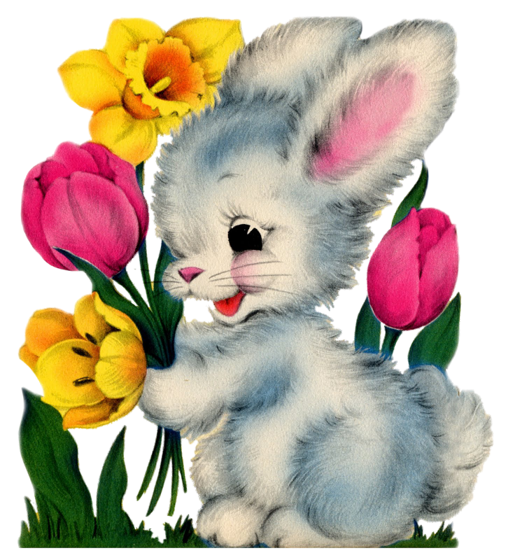Bunny flower clipart clipart black and white download http://1.bp.blogspot.com/-knvWf_O9CzI/T073if2E9kI/AAAAAAAAFHc ... clipart black and white download