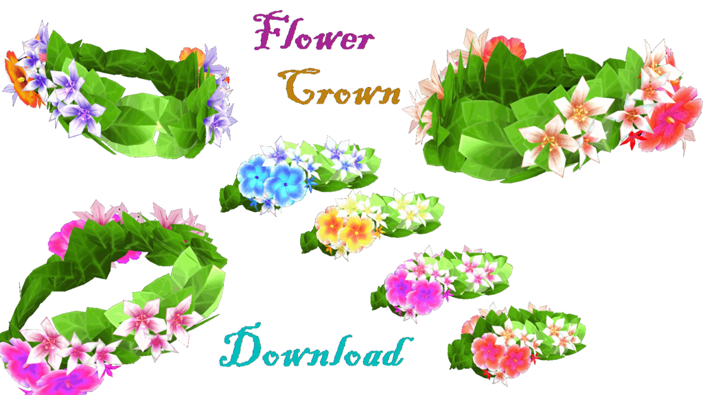 Mmd by lorenemmd on. Flower crown clipart transparent
