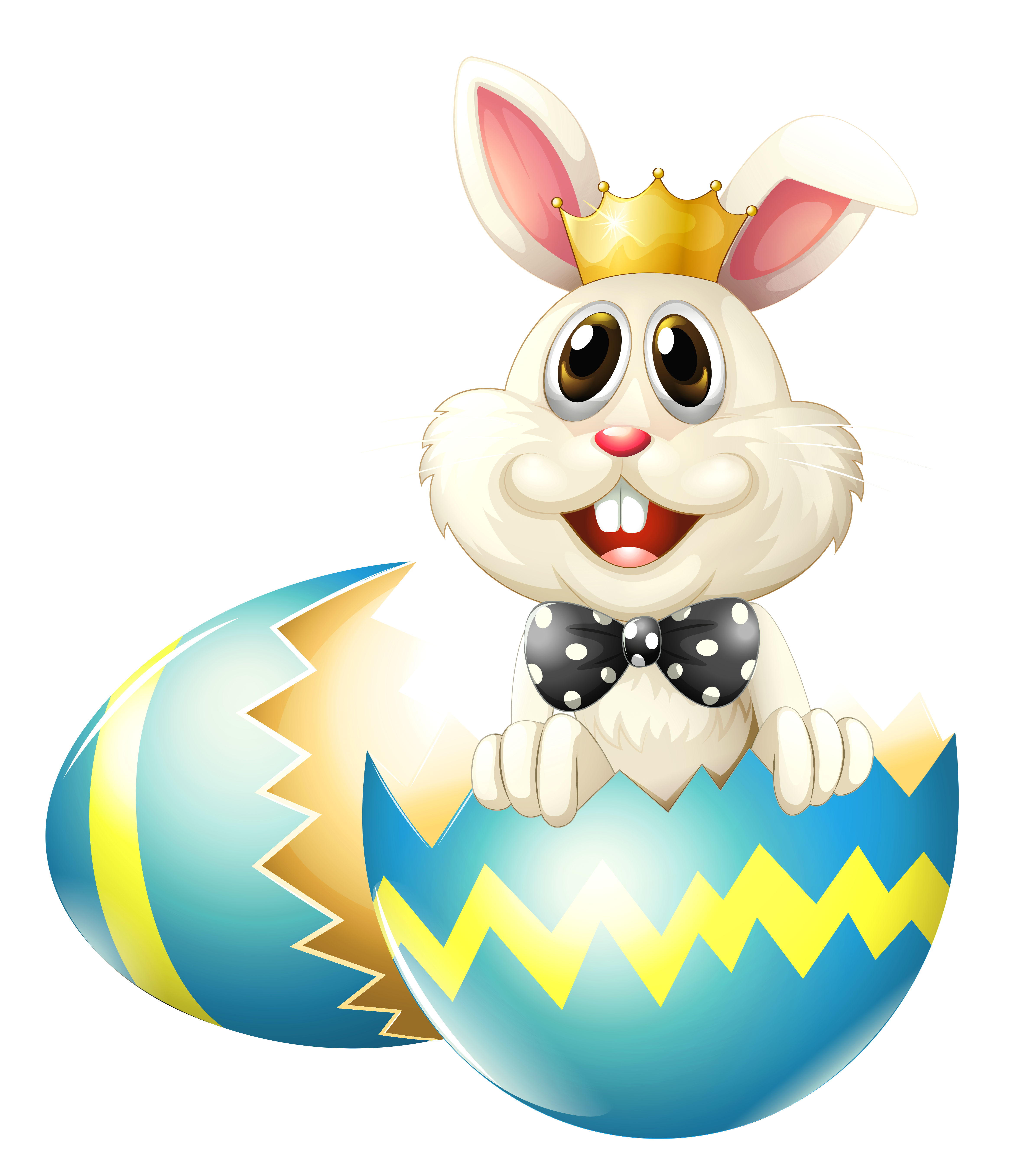 Easter egg crown clipart jpg royalty free library Easter Bunny with Crown PNG Clipart Picture | Gallery Yopriceville ... jpg royalty free library
