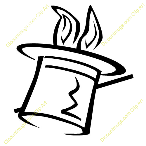 Bunny in a hat clipart black and white png black and white Magic Hat Clipart | Free download best Magic Hat Clipart on ... png black and white