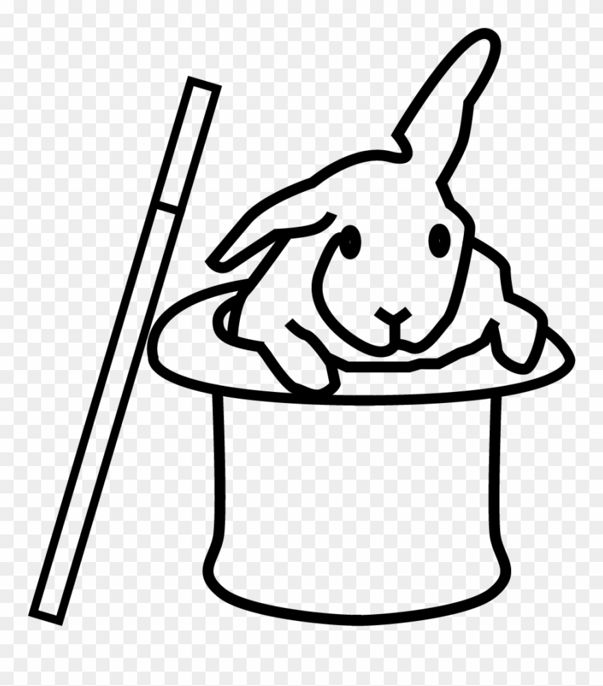 Bunny in a hat clipart black and white image freeuse stock Rabbit Hat - Cartoon Clipart (#1835346) - PinClipart image freeuse stock