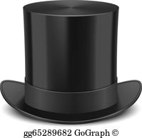 Bunny in top hat clipart free jpg image black and white download Top Hat Clip Art - Royalty Free - GoGraph image black and white download