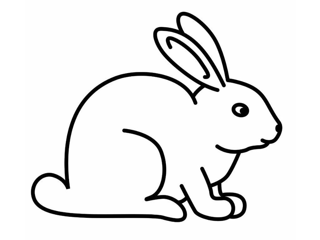 Rabbit animals cliparts image library library Bunny black and white rabbit coloring pages for kids clipart ... image library library