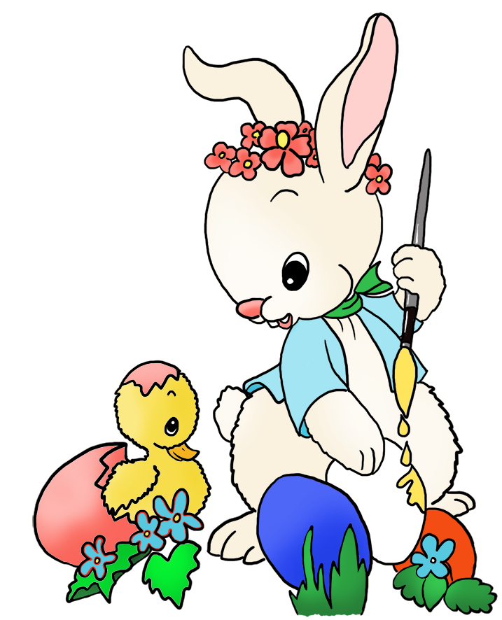 Bunny rules clipart clip Funny Easter Bunny Clipart clip