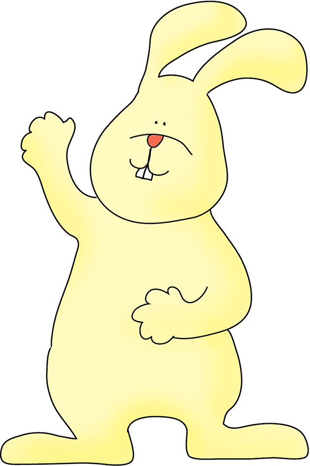Bunny rules clipart clip art transparent Funny Easter Bunny Clipart clip art transparent