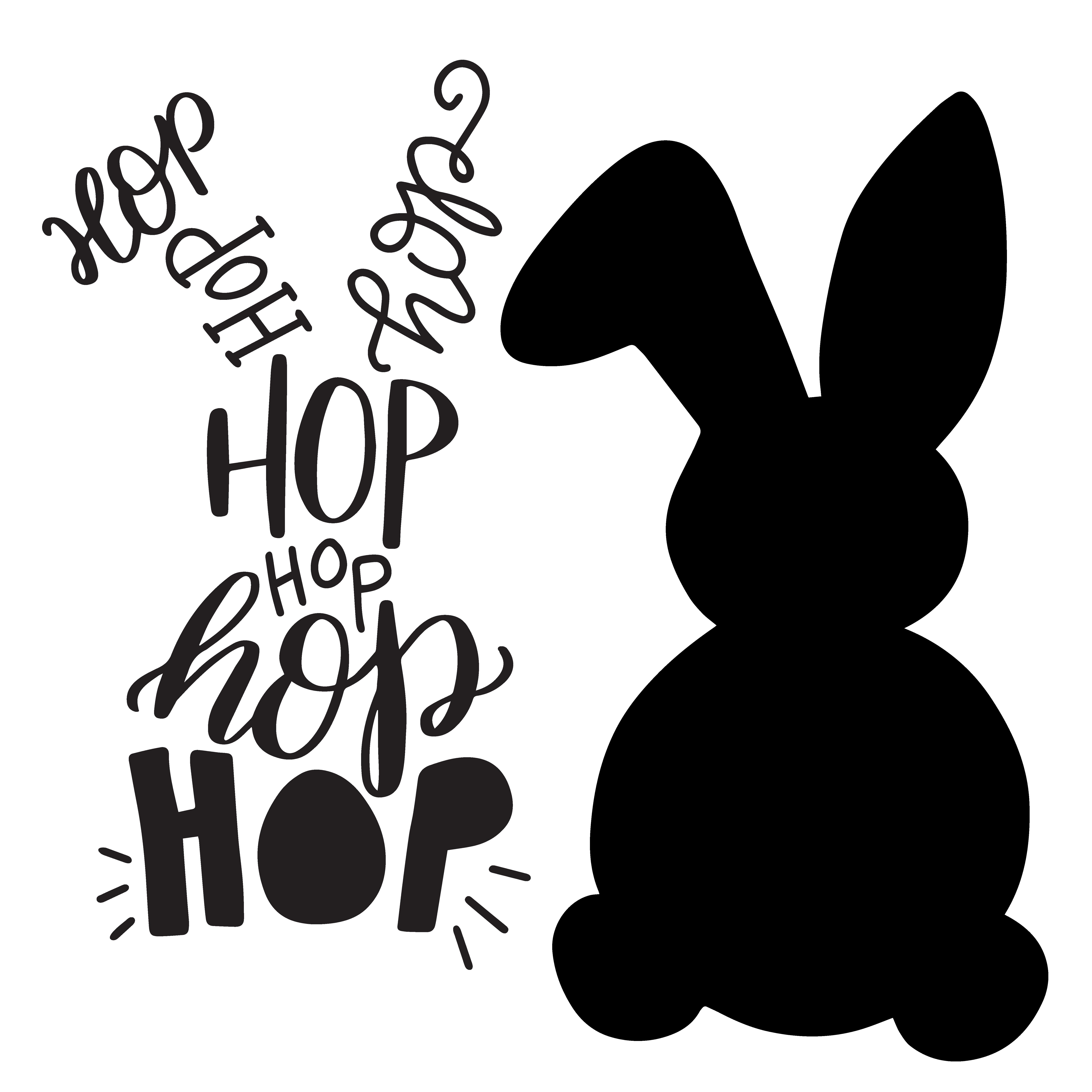 Bunny rules clipart picture free stock Easter Bunny Silhouette Clip Art – HD Easter Images picture free stock