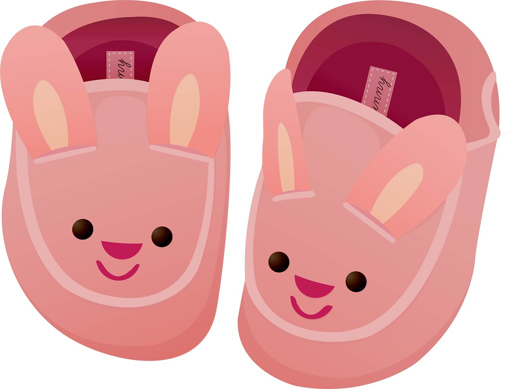 Bunny slippers clipart picture black and white library Bunny Slippers | These could probably look a lot nicer, but … | Flickr picture black and white library