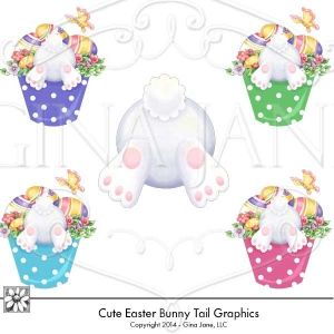 Bunny tail clipart graphic download Easter Bunny Tail clip art. Cute bunny graphics - Easter bunnies in ... graphic download