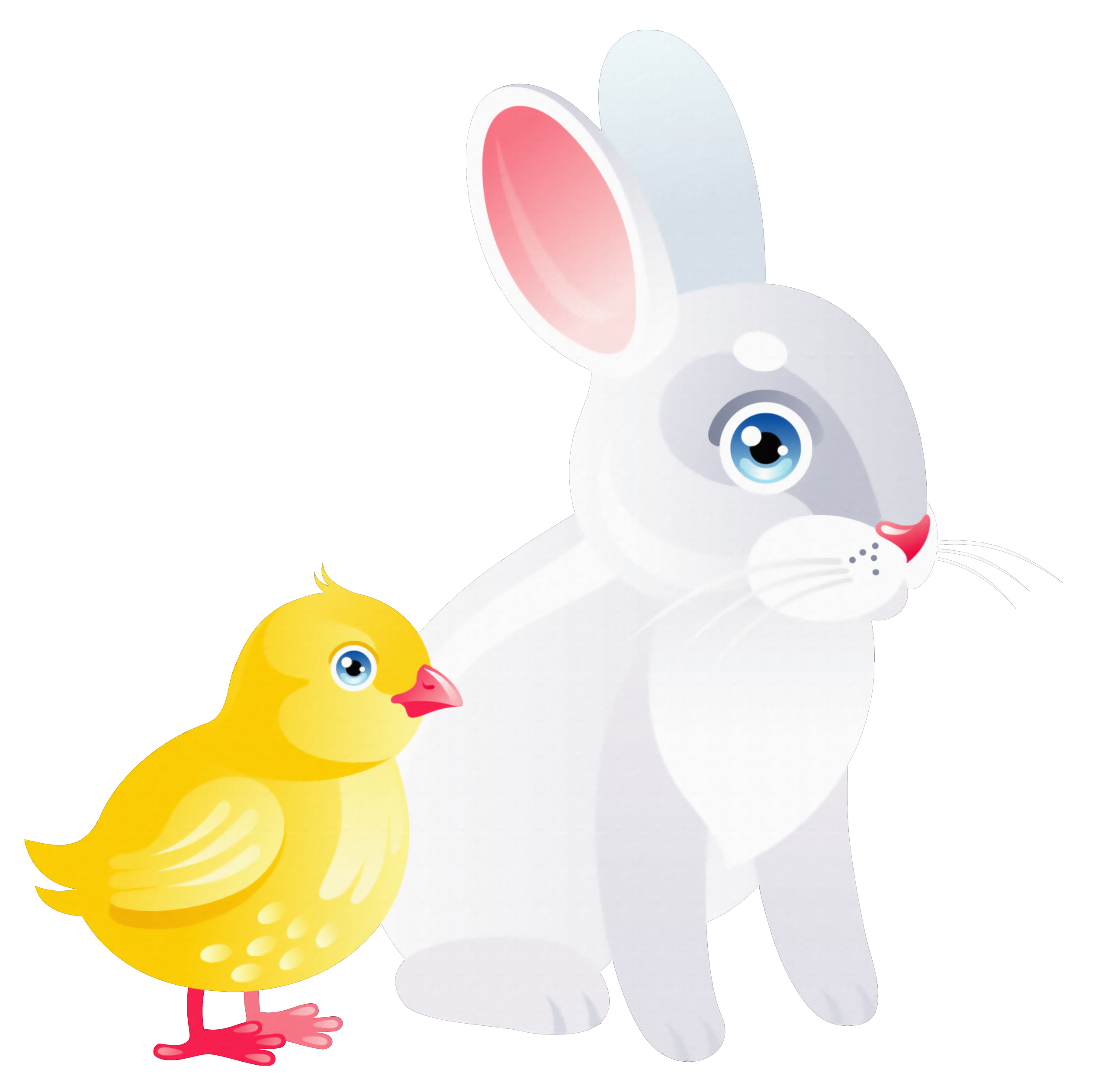 Bunny tail clipart transparent png Easter Chicken and Bunny Transparent PNG Clipart png