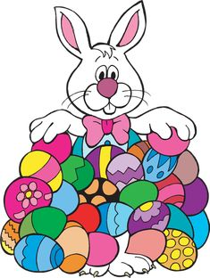 Bunny with eggs clipart png freeuse download 362 Best Easter Bunny & Eggs images in 2019 | Easter, Easter brunch ... png freeuse download
