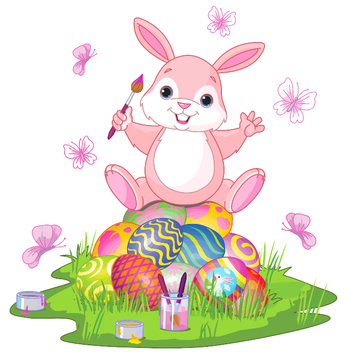 Bunny with eggs clipart graphic transparent download Easter Bunny with Eggs and Grass PNG Clipart Picture | Gallery ... graphic transparent download