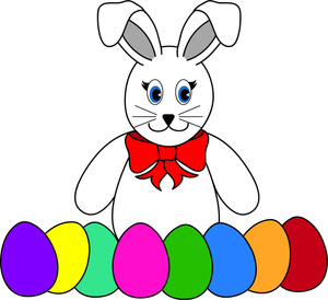 Bunny with eggs clipart vector Easter bunny with eggs clipart 3 » Clipart Station vector