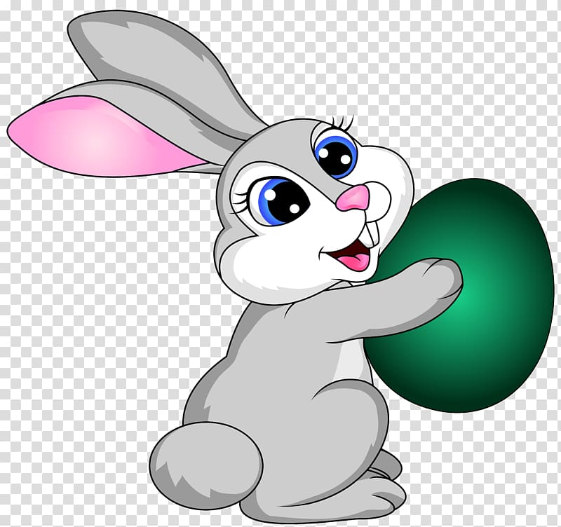 Bunny with eggs clipart jpg download Gray rabbit holding green egg , Easter Bunny Easter egg , Easter ... jpg download