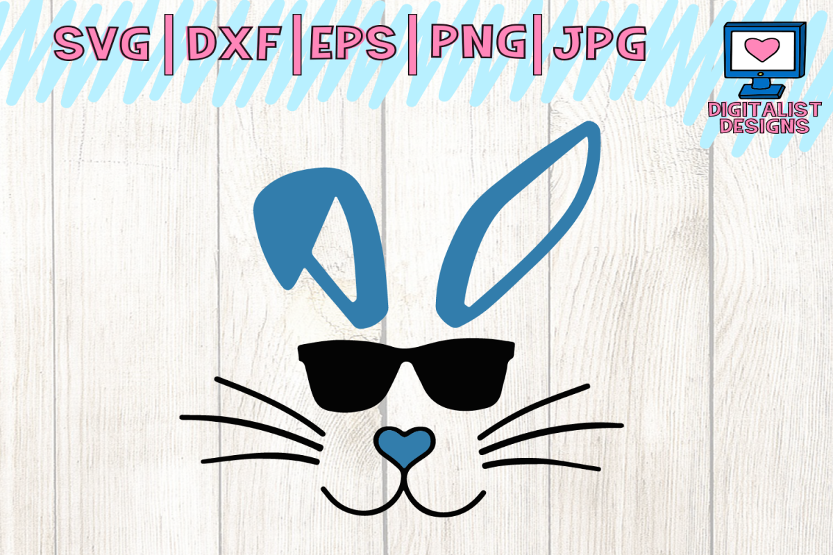Bunny with sunglasses clipart clipart black and white library Easter svg, bunny svg, easter bunny svg, bunny sunglasses | Home ... clipart black and white library