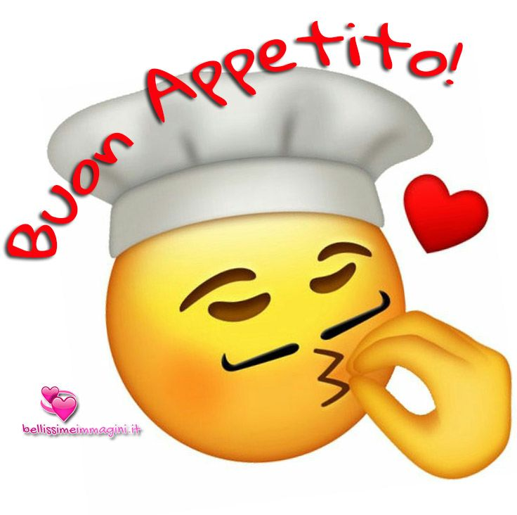Buon appetito clipart image transparent stock Immagini belle Buon Appetito con Chef emoticon sorriso | Jewelry ... image transparent stock