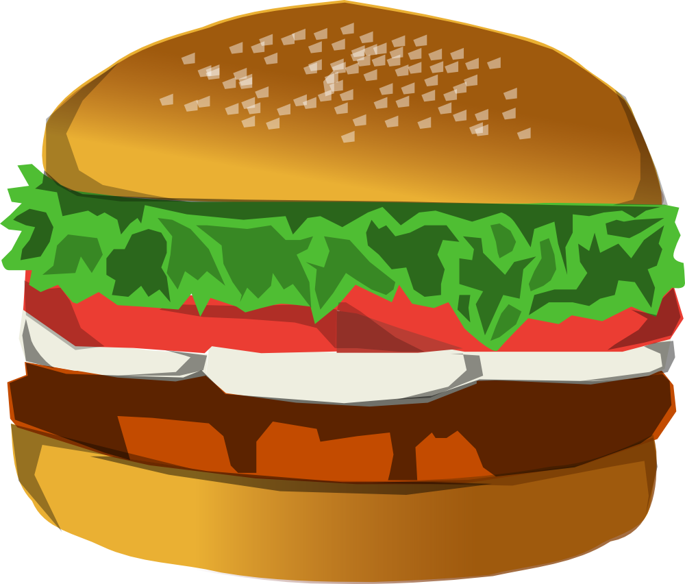 Burger and sandwich clipart clip art black and white library Hamburger clipart burger day, Hamburger burger day Transparent FREE ... clip art black and white library