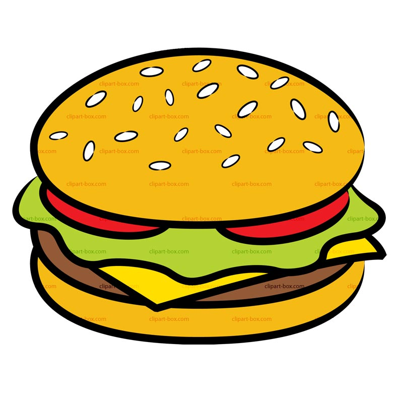 Hamburger free clipart png black and white Hamburger Clipart | Free Download Clip Art | Free Clip Art | on ... png black and white
