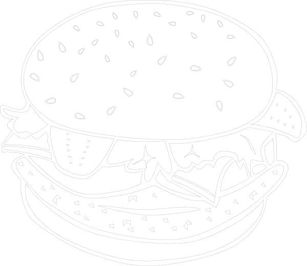 Burger with crown clipart png black and white Black And White Burger Clipart - The Best Burger In 2018 png black and white