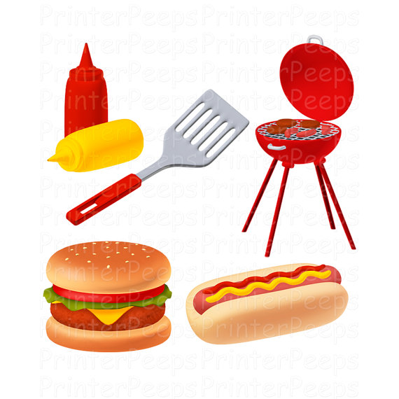Burgers hotdogs grill clipart clipart freeuse Hotdog And Hamburger Clipart | Free download best Hotdog And ... clipart freeuse