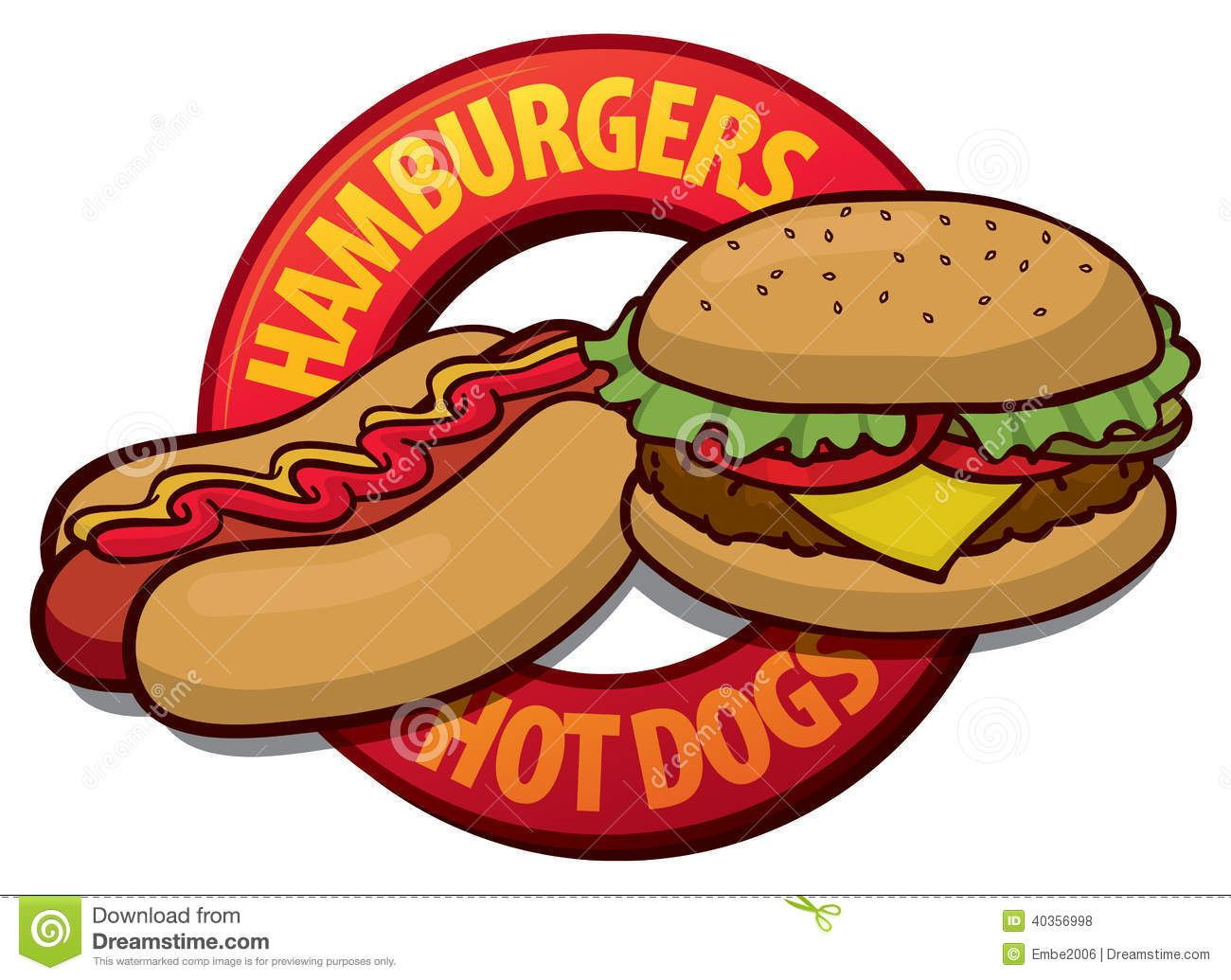 Hot dogs and hamburgers clipart banner transparent download Hamburger Hot Dog Clip Art | Open Studios | Hamburger hotdogs, Dog ... banner transparent download