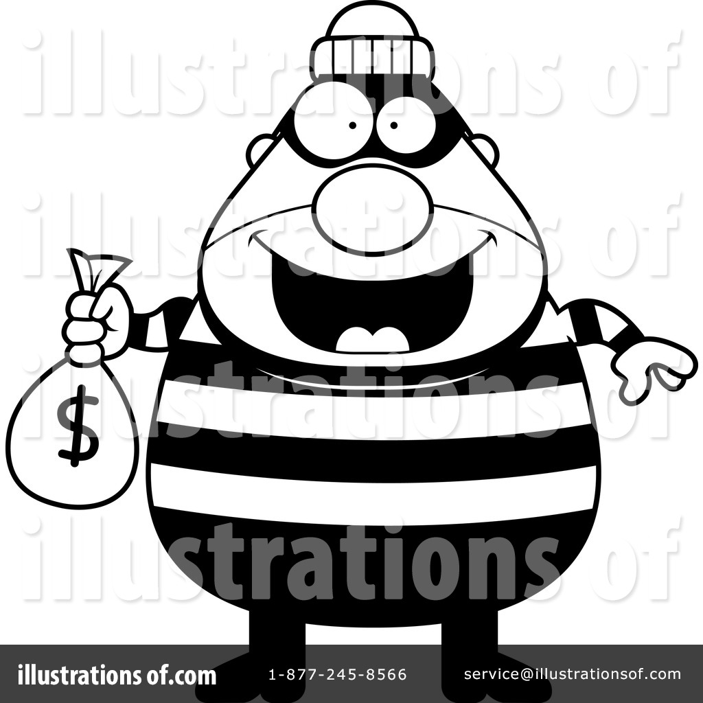 Burgular clipart graphic freeuse library Burglar Clipart #1128853 - Illustration by Cory Thoman graphic freeuse library