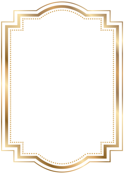 Picture frame clipart transparent clipart transparent download Border Frame Gold Transparent Clip Art | FRAMES | Printable frames ... clipart transparent download