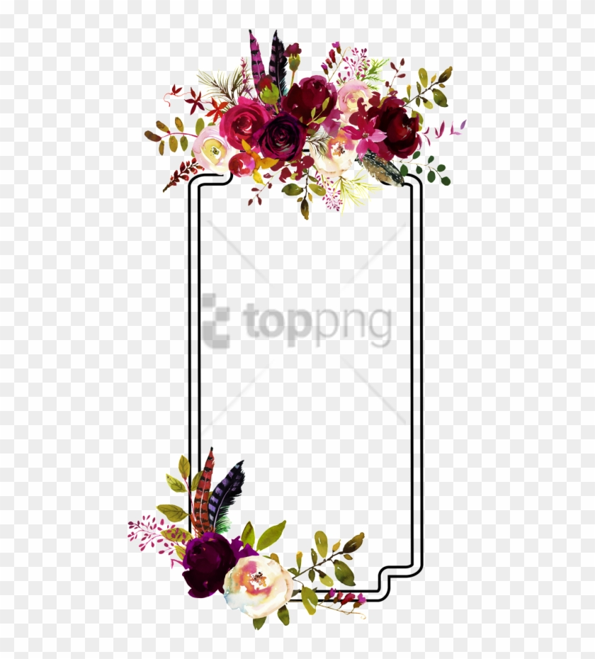 Burgundy floral borders cliparts clipart transparent Free Png Fashion Flower Border Decoration Vector - Burgundy Flower ... clipart transparent
