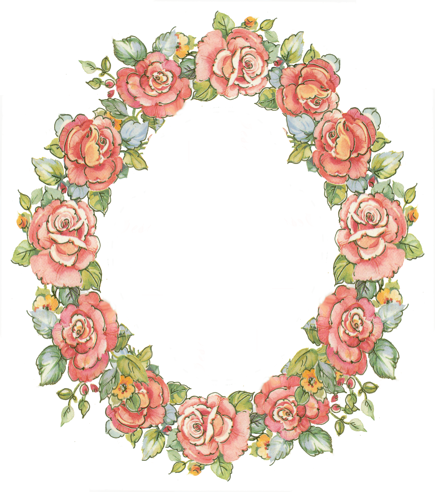 Heart wreath clipart png black and white library digital vintage rose frame; free download | Art - wreaths ... png black and white library