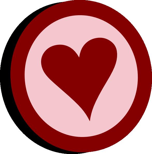 Burgundy heart clipart clip art freeuse stock Symbol Heart Vote Clip Art at Clker.com - vector clip art online ... clip art freeuse stock