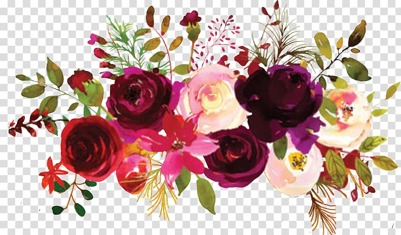 Burgundy marsala flowers clipart clipart black and white library Pink and red flowers illustration, Garden roses Floral design Flower ... clipart black and white library