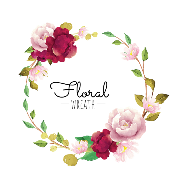 Burgundy misty pink with greenery flowers clipart jpg royalty free stock Pink floral wreath clipart images gallery for free download | MyReal ... jpg royalty free stock