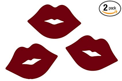 Burgundy & sign clipart svg free ANGDEST Lips Kiss Pattern Couple (Burgundy) (Set of 2) Premium Waterproof  Vinyl Decal Stickers for Laptop Phone Accessory Helmet Car Window Bumper  Mug ... svg free