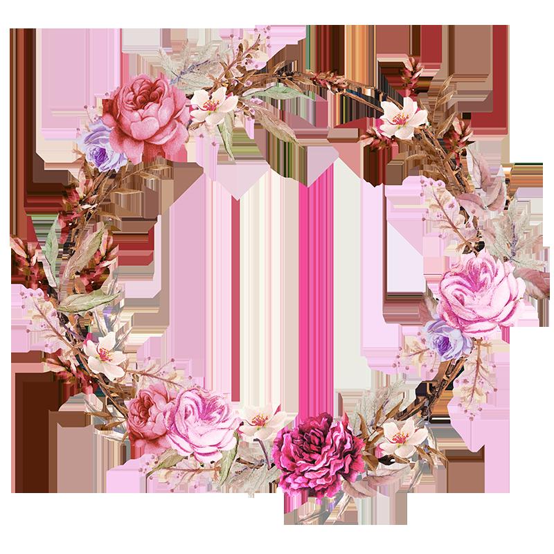 Png clipart flower crown image black and white download Frames floral em png para baixar | Floral | Pinterest | Floral ... image black and white download