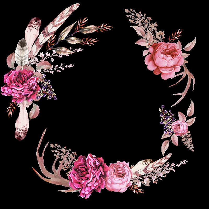 Burgundy watercolor flower clipart on gold background png transparent Frames floral em png para baixar | Importados da Bia | Pinterest ... png transparent