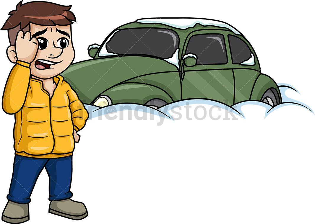 Buried in snow clipart graphic stock Man Standing Near Car Buried In Snow | Clip Arts | Man standing ... graphic stock