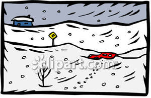Buried in snow clipart image free download Car Buried In the Snow During a Blizzard - Royalty Free Clipart Picture image free download